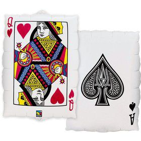 "Casino 2-Sided Card 30"" Balloon (Each)"