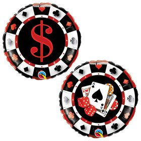 "Casino Chip 18"" Balloon (Each)"