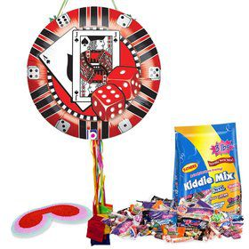 Casino Chip Pull String Economy Pinata Kit