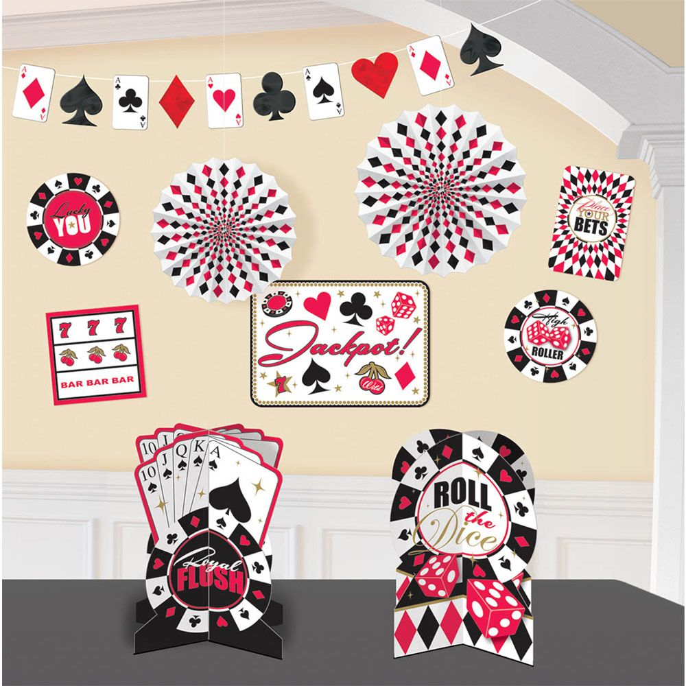 Casino Decorating Kit (Each) - Party Supplies BB240096