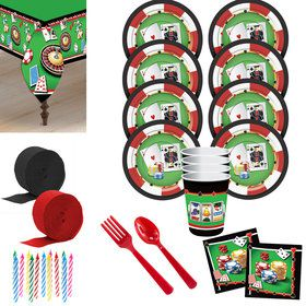 Casino Deluxe Tableware Kit (Serves 8)