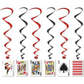 "Casino Party Cards Dangling Cutouts 30"" (Each)"