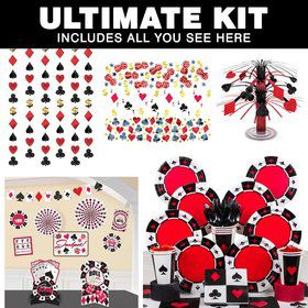 Casino Party Ultimate Tableware Kit Serves 8