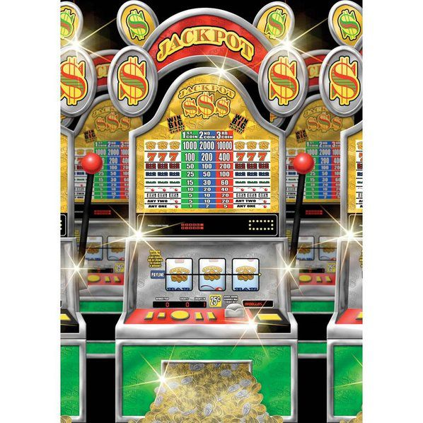 casino slot machine room roll decoration party
