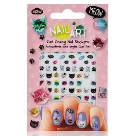 Cat Crazy Nail Stickers Sheet