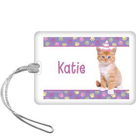 Cat Party Personalized Bag Tag (each)