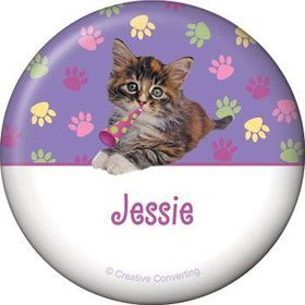 Cat Party Personalized Button (each)