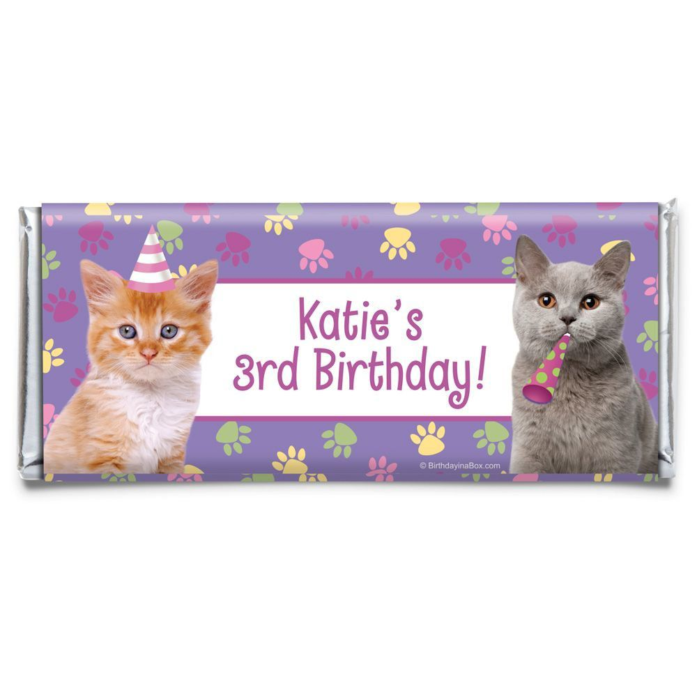 e798a6151de3 Cat Party Personalized Candy Bar Wrapper - Party Decorations & Supplies