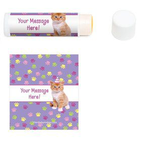 Cat Party Personalized Lip Balm (12 Pack)