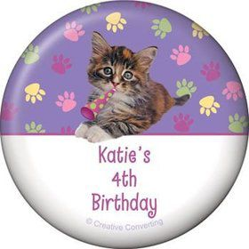 Cat Party Personalized Magnet (each)