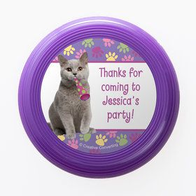 Cat Party Personalized Mini Discs (Set of 12)
