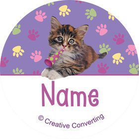 Cat Party Personalized Mini Stickers (Sheet of 20)