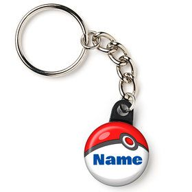 "Catch 'Em All Personalized 1"" Mini Key Chain (Each)"