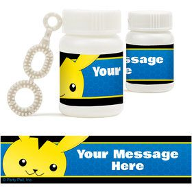 Catch 'Em All Personalized Bubbles (18 Pack)
