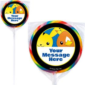Catch 'Em All Personalized Lollipops (12 Pack)