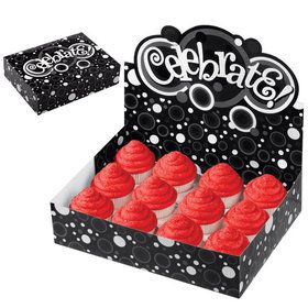 Celebrate Black and White Cupcake Box