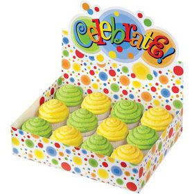 Celebrate Colorful Cupcake Box