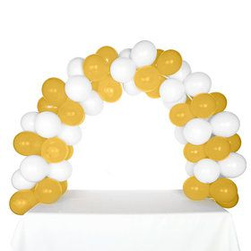 Celebration Tabletop Balloon Arch-White Gold