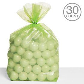Cello Bags Lime Green (30 Count)