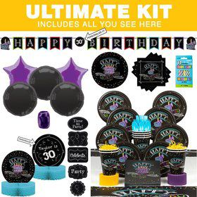 Chalk Birthday Party Ultimate Tableware Kit Serves 8