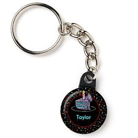 "Chalk Birthday Personalized 1"" Mini Key Chain (Each)"