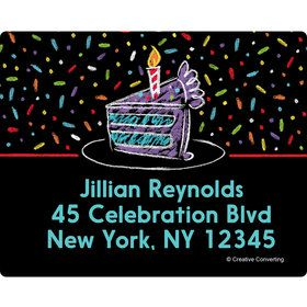 Chalk Birthday Personalized Address Labels (Sheet of 15)