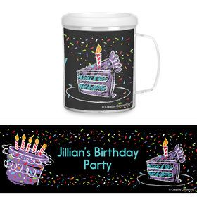 Chalk Birthday Personalized Favor Mug (Each)