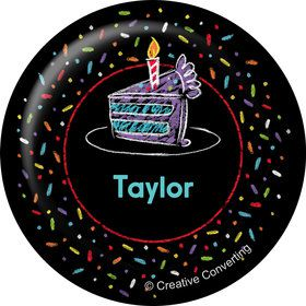 Chalk Birthday Personalized Mini Magnet (Each)