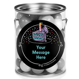 Chalk Birthday Personalized Mini Paint Cans (12 Count)