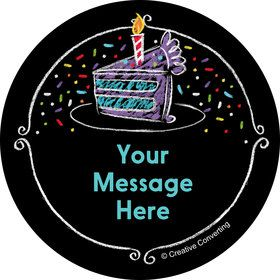 Chalk Birthday Personalized Mini Stickers (Sheet of 24)