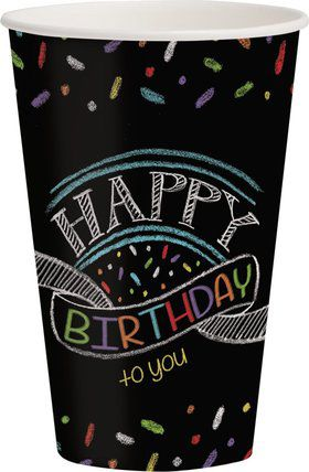 Chalk Party 12oz Cups (8 Pack)