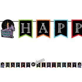 Chalk Party 9ft. Customizable Pennant Banner w/ Twine (Each)
