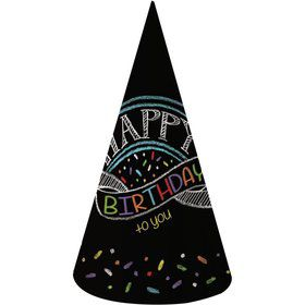Chalk Party Adult Party Hats (8 Pack)
