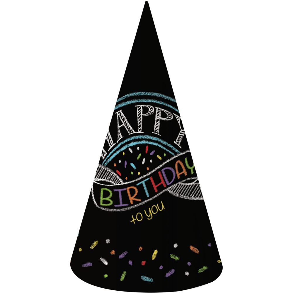 Chalk Party Adult Party Hats (8 Pack) BB205971