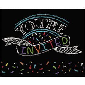 Chalk Party Invitations (8 Pack)