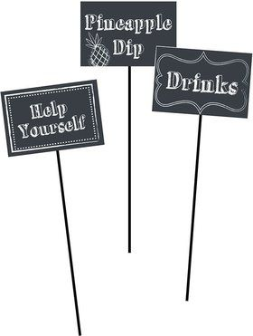 Chalkboard Centerpiece Sticks (3 Pack)
