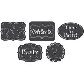 Chalkboard Cutout Decorations (5 Pack)