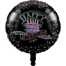 "Chalkboard Happy Birthday 18"" Balloon (1)"