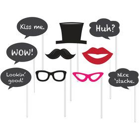 Chalkboard Photo Booth Props (10 Pack)