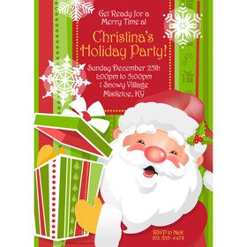 Cheerful Santa Personalized Invitation (Each)