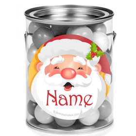 Cheerful Santa Personalized Mini Paint Cans (12 Count)