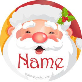 Cheerful Santa Personalized Mini Stickers (Sheet of 24)