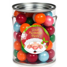 Cheerful Santa Personalized Paint Cans (6 Pack)