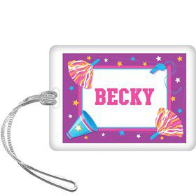 Cheerleader Personalized Bag Tag (each)
