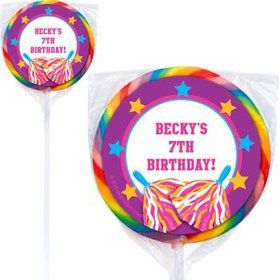 Cheerleader Personalized Lollipops (pack of 12)