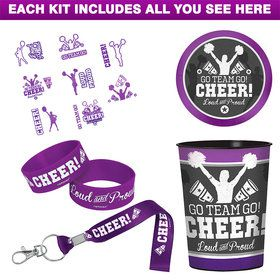 Cheerleading Spirit Squad Favor Kit (For 8 Guests)