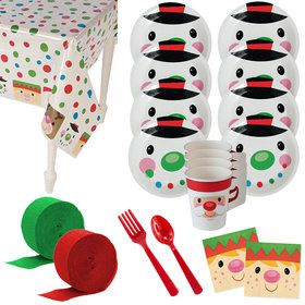 Cheery Christmas Deluxe Tableware Kit (Serves 8)