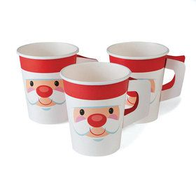 Cheery Christmas Paper 9oz Cups With Handles (8)