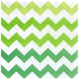 Chevron Green Lunch Napkins