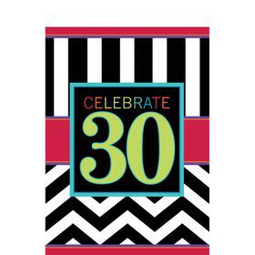 Chevron Mix 30th Birthday Table Cover (Each)